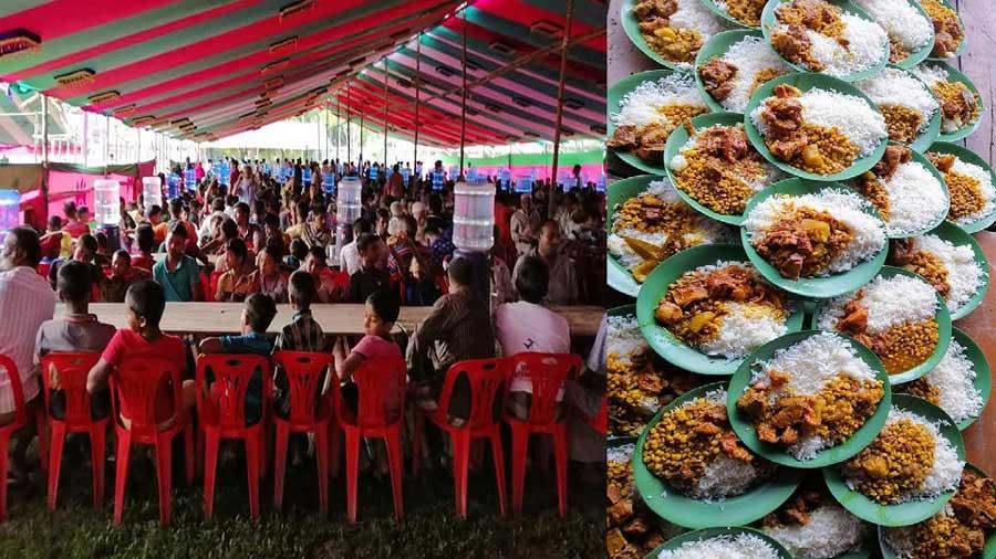 শোক দিবস উপলক্ষে টুঙ্গিপাড়ায় ঐতিহ্যবাহী মেজবান
